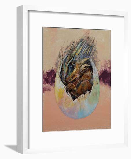 Baby Dragon-Michael Creese-Framed Art Print