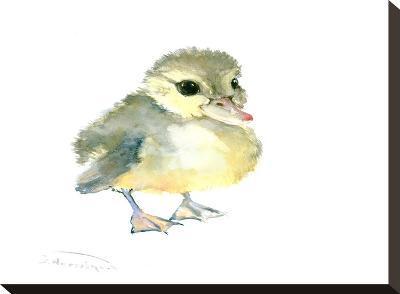 Baby Duck-Suren Nersisyan-Stretched Canvas Print