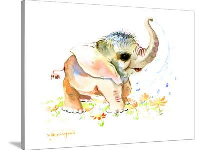 Baby Elephant-Suren Nersisyan-Stretched Canvas Print