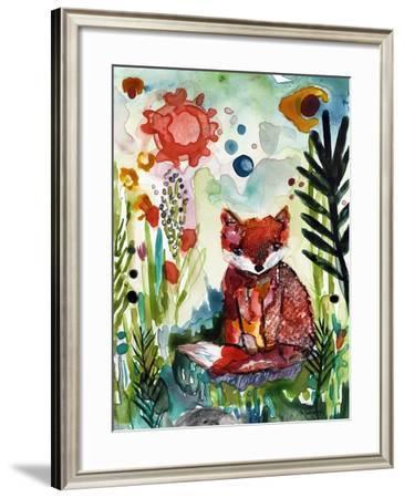Baby Fox in the Garden-Wyanne-Framed Giclee Print