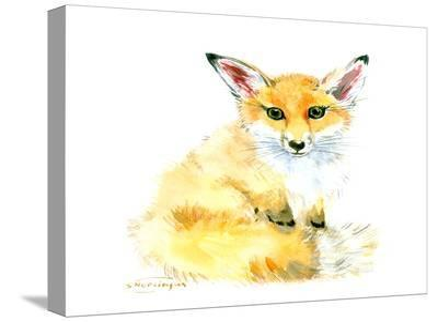 Baby Fox-Suren Nersisyan-Stretched Canvas Print