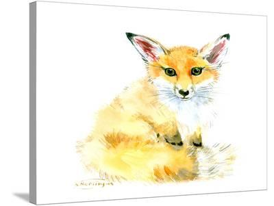 Baby Fox-Suren Nersisyan-Stretched Canvas Print