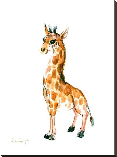 Baby Giraffe-Suren Nersisyan-Stretched Canvas Print