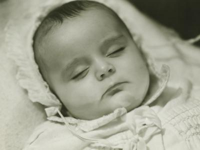 Baby Girl (12-18 Months) Sleeping, Close-Up-George Marks-Photographic Print