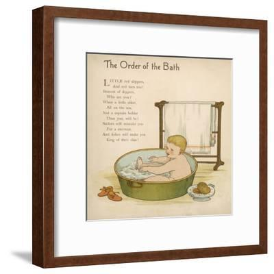 Baby in the Bath--Framed Giclee Print