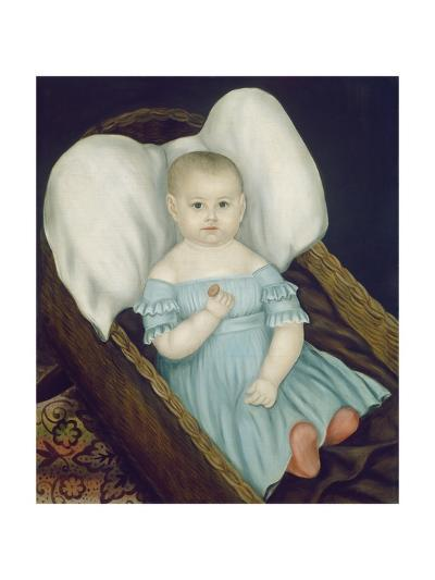 Baby in Wicker Basket, 1840-Joseph Whiting Stock-Giclee Print