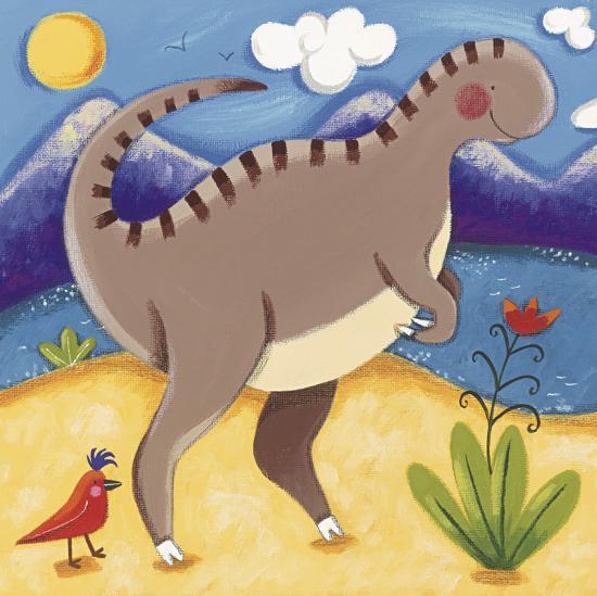 Baby Izzy the Iguanodon-Sophie Harding-Art Print