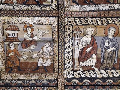 Baby Jesus Giving Life to Clay Pigeons, Pine and Larch Wood Ceiling Panels in St. Martin's Church--Giclee Print