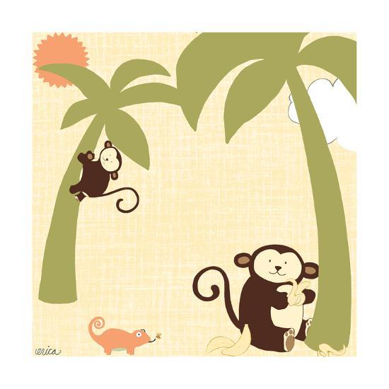 Baby Jungle II-June Vess-Art Print
