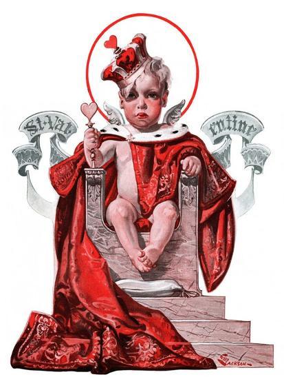 """Baby King Valentine,""February 14, 1925-Elbert Mcgran Jackson-Giclee Print"