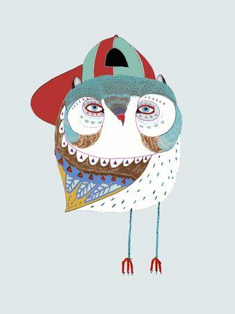 Baby Owl Dude-Ashley Percival-Giclee Print