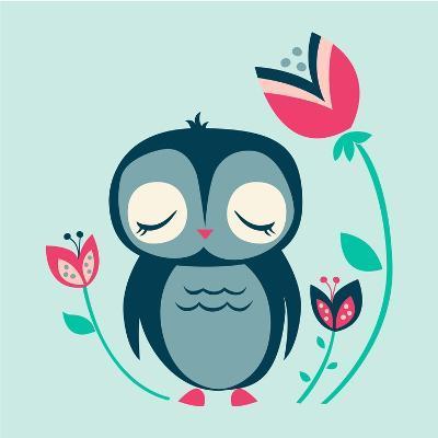 Baby Owl--Giclee Print