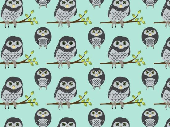 Baby Owls-Joanne Paynter Design-Giclee Print