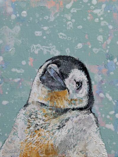 Baby Penguin Snowflakes-Michael Creese-Art Print