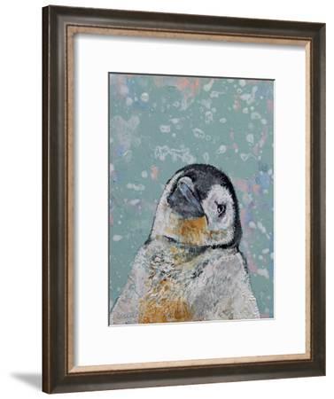 Baby Penguin Snowflakes-Michael Creese-Framed Art Print