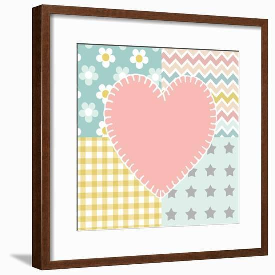 Baby Quilt I-Beth Grove-Framed Art Print