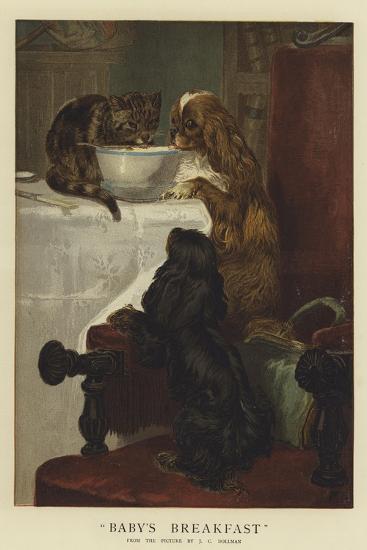 Baby's Breakfast-John Charles Dollman-Giclee Print