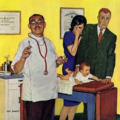 """Baby's First Shot,"" March 3, 1962-Richard Sargent-Giclee Print"