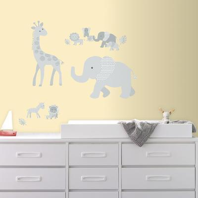 Baby Safari Animals Peel and Stick Giant Wall Decals--Wall Decal