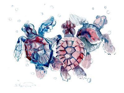 Baby Sea Turtles-Suren Nersisyan-Art Print