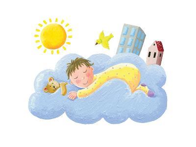 Baby Sleeping on Cloud-andreapetrlik-Art Print