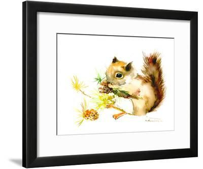 Baby Squirrel-Suren Nersisyan-Framed Art Print