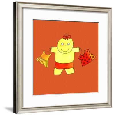 Baby with Clothes, 1999-Julie Nicholls-Framed Giclee Print