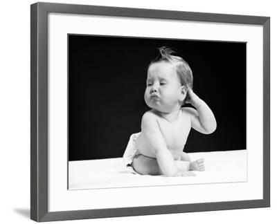 Baby With Hand on Ear-H^ Armstrong Roberts-Framed Photographic Print