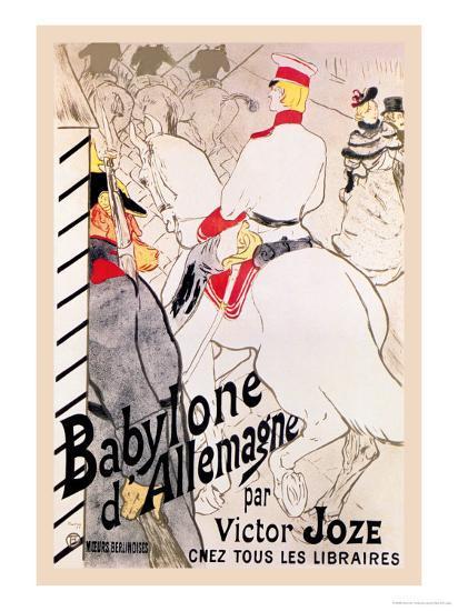 Babylone d'Allemagne-Henri de Toulouse-Lautrec-Art Print