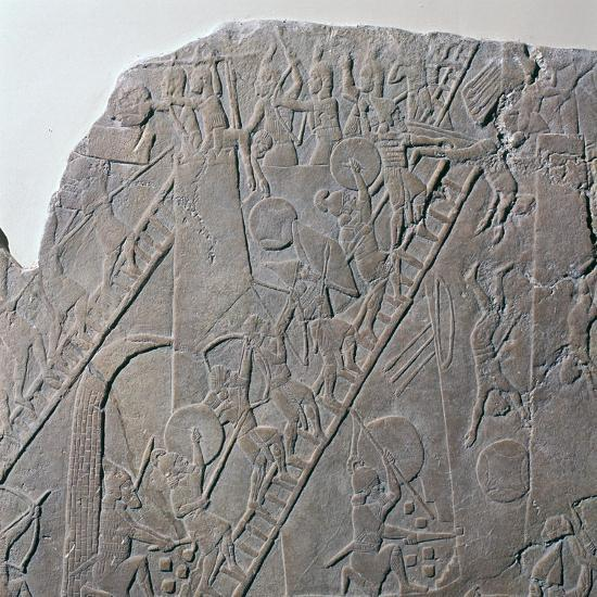 Babylonian depiction of the siege of an Egyptian city, 7th century-Unknown-Giclee Print