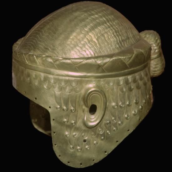 Babylonian helmet of Prince Meskalamdur. Artist: Unknown-Unknown-Giclee Print