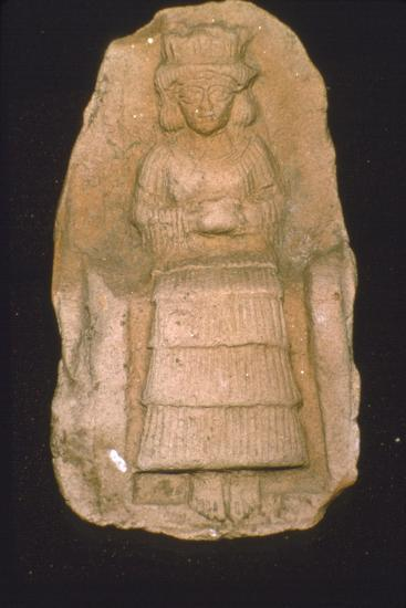 Babylonian Terracotta Plague of Goddess Astarte, c2000BC-1600 BC-Unknown-Giclee Print