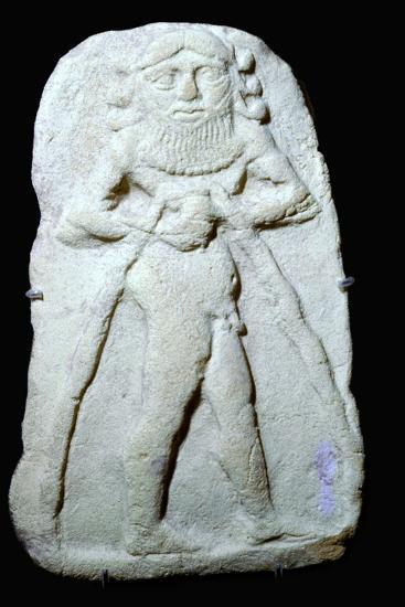 Babylonian terracotta plaque of Gilgamesh. Artist: Unknown-Unknown-Giclee Print