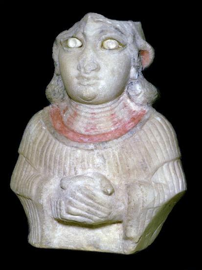 Babylonian white marble figure of a woman, 30th century BC Artist: Unknown-Unknown-Giclee Print