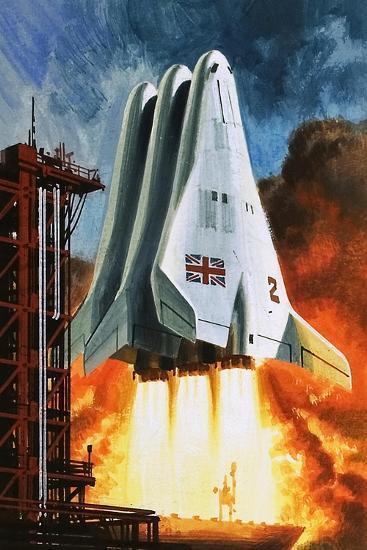 BAC's 'Mustard' Space Transporter-Wilf Hardy-Giclee Print
