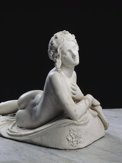 Bacchante au repos dite aussi Dircé-Lorenzo Bartolini-Giclee Print