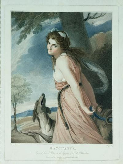 Bacchante, Engraved and Pub. by Charles Knight (1743-C.1826), 1797-George Romney-Giclee Print