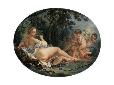 Bacchante Playing a Reed-Pipe, 18th Century-Fran?ois Boucher-Giclee Print