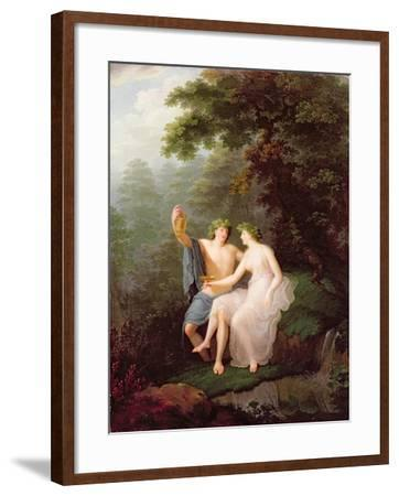 Bacchus and Ariadne-Jacques Antoine Vallin-Framed Giclee Print