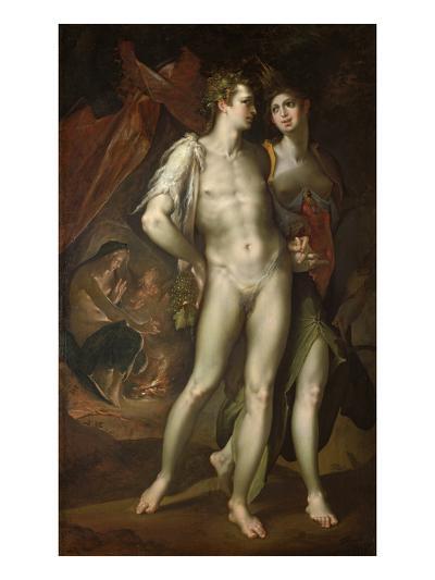 Bacchus and Ceres Leaving Venus, about 1590-Bartholomaeus Spranger-Giclee Print