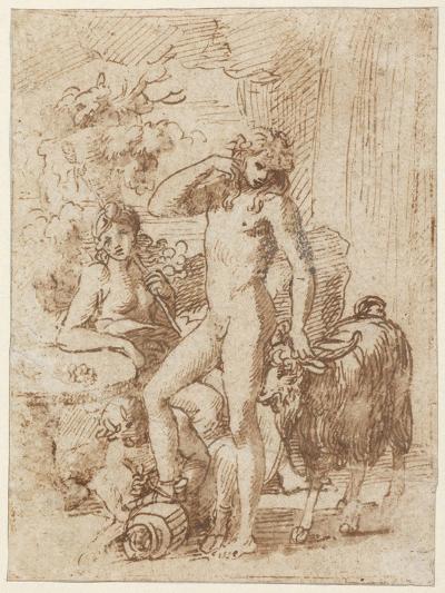 Bacchus and Erigone-Nicolas Poussin-Giclee Print
