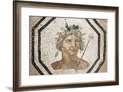 Bacchus, Detail from a Mosaic, Lyon, Rhone-Alpes, France--Framed Giclee Print