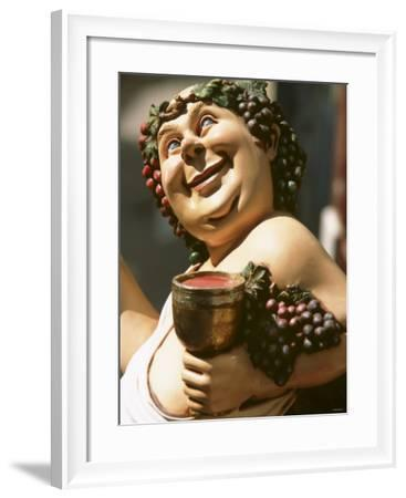 Bacchus, Roman God of Wine, Painted Wooden Figure-Joerg Lehmann-Framed Photographic Print