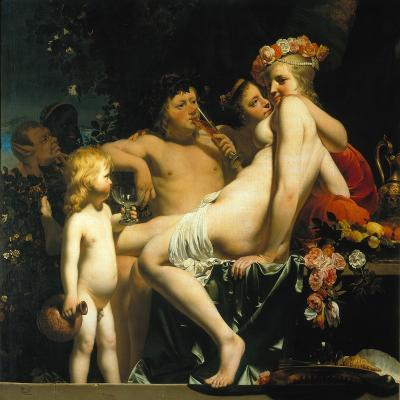 Bacchus with Two Nymphs and Amor-Camille Pissarro-Giclee Print