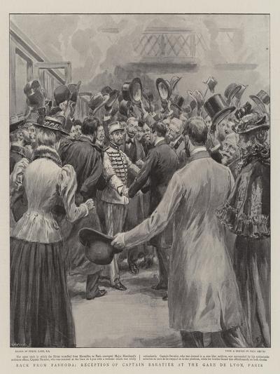 Back from Fashoda, Reception of Captain Baratier at the Gare De Lyon, Paris-Frank Dadd-Giclee Print