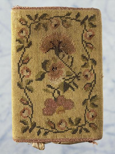 Back of Purse, Embroidered with Silk Small Stitch, with Floral Motifs--Giclee Print