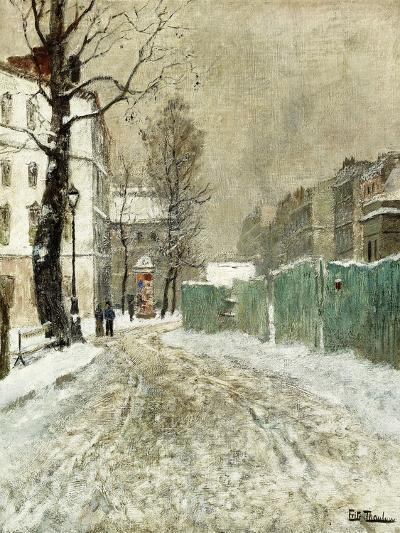 Back Street, Montmartre-Fritz Thaulow-Giclee Print