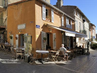 Back Street Restaurants, St. Tropez, Var, Provence, Cote D'Azur, France, Europe-Peter Richardson-Photographic Print