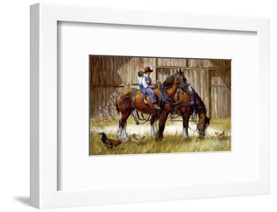 Back to the Barn-Jim Daly-Framed Art Print
