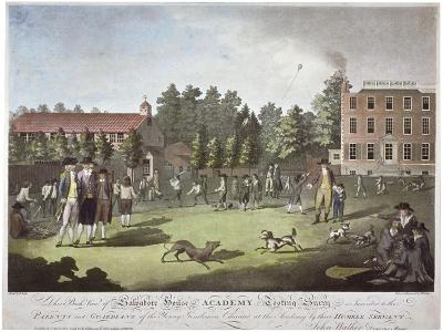 Back View of Salvadore House Academy, Tooting, Wandsworth, London, 1787-James Walker-Giclee Print